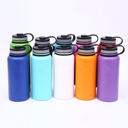Wholesale Bicycle Insulated Bottle - 13colors 18oz 32oz 40oz Water Bottle Vacuum Insulated Bottle 304 Stainless Steel Water Bottle Wide Mouth Big Capacity Travel Mugs with lids