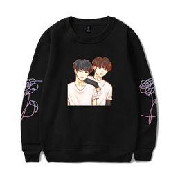 Wholesale Red Stay - BTS K-pop BTS Sweatshirt Women Love Yourself Stay Picture JIMIN V Capless Sweatshirt Hip Hop Female Fans Idol Closthes 4XL