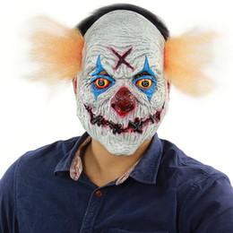 2019 maschere pagliaccio raccapriccianti 2018 Joker Clown Costume Maschera Creepy Evil Spaventoso Maschera di Halloween Clown Adulto Fantasma Festival Maschera di Partito Forniture Decorazione TY2278 sconti maschere pagliaccio raccapriccianti