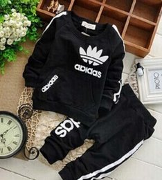 Wholesale Sale Wholesale Brand Clothing - DHL brand kids suits baby boys & girls tracksuits kids tracksuits coats pants 2 pcs sets kids clothing hot sale new fashion spring autumn.