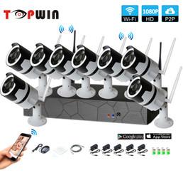 8CH 1080 p em dois sentidos de áudio talK HD NVR Sem Fio Kit P2P Interior Ao Ar Livre IR Night Vision Câmera IP 2.0MP Sistema de CCTV WI-FI supplier kit interior de Fornecedores de interior do kit