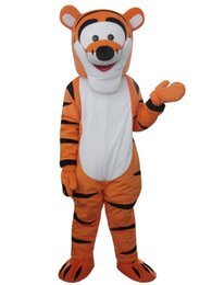 Traje de mascote Tigger Cartoon mascote traje frete grátis cheap tigger costume de Fornecedores de traje tigger