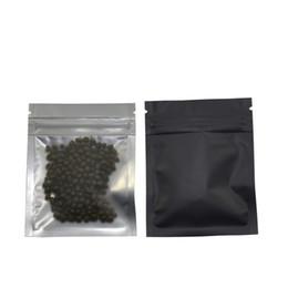 Mylar zip on-line-100 pçs / lote 7.5 * 10 cm Fosco Preto / Sacos de Zíper Frente Zíper Bloqueio Resealable Folha De Alumínio Saco De Plástico De Alimentos De Supermercado Embalagem Mylar Foil Bag