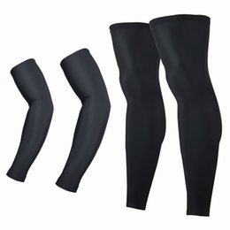 Wholesale Uv Arm Sleeves Women - Cuzaekii Men Women UV Protection MTB Bike Bicycle Cycling Arm Warmers+Leg Warmers Sports Running Sun Arm Sleeves Leggings