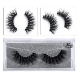 false eyelashes transparent Canada - JIEFUXIN 1 Pairs Crystal 3D Mink Lashes Handmade Fake Lashes False Eyelashes Soft Lashes Transparent Stem High Quanlity Beauty Y04