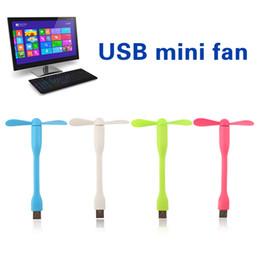 2019 gadget notebook USB Fan Flexible Tragbare Mini Lüfter Kühler Für Xiaomi Energienbank Notebook Computer Sommer Gadget Android Telefon PC Laptop Desktop rabatt gadget notebook