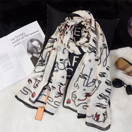 Écharpe Pour Femmes 2018 Bonbons de Printemps Marques de motifs Écharpes Design 100% Soie Longues Écharpes Taille 180X90CM Top Qualtiy A-002 ? partir de fabricateur