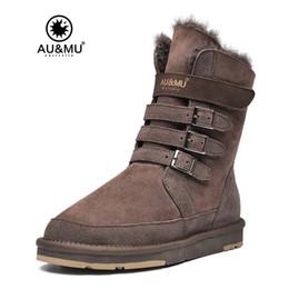 Wholesale short womens winter boots - AUMU Australia Womens Mid Calf Snow Boots Short Winter Boots N310