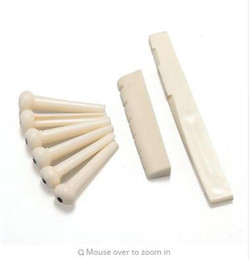 Bridge plastic guitar en Ligne-6 bridge pins + selle + bridge selle plastique acoustique guitare blanche