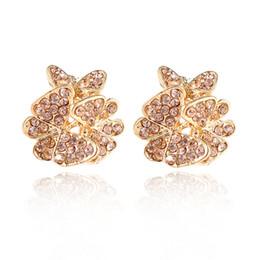Wholesale Diamond Bow Studs - Creative Fashion Earrings Bow Earrings New Full Diamond Earrings