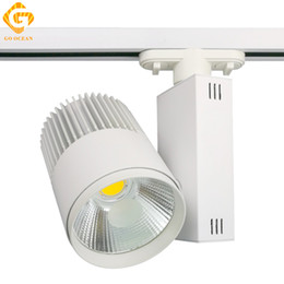 Wholesale Clothing Rails - Track Lighting Rail Light 30W COB Clothing Shoe Shop Black White Track Lights LED Rail Spotlight Light Fixtures
