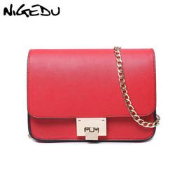 4077dd86299e NIGEDU Fashion Small Chain Flap Bags Female Messenger Bag High Quality Pu Leather  Women Shoulder Bag Famous Brand Purse Handbags