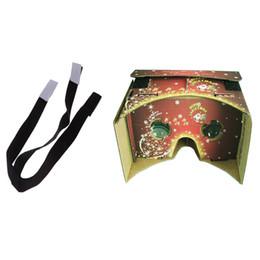 Realtà Virtuale Google Occhiali 3D VR + una cintura regolabile per elastico nero rimovibile Natale da