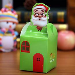 2019 la vigilanza di natale di natale all'ingrosso Contenitore di Apple di Natale Cartone animato di Natale Scatola di vigna del pupazzo di neve Scatola da regalo all'ingrosso la vigilanza di natale di natale all'ingrosso economici