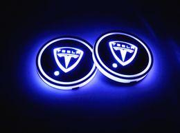 Deutschland 2 Teile / los RGB LED Auto Becherhalter Matte Auto Innendekoration Atmosphäre lichter mit USB Wiederaufladbare für Tesla Versorgung
