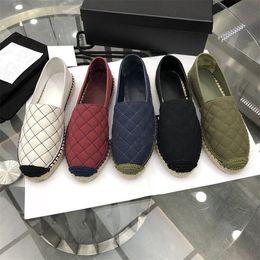 2019 chaussures de marque en tissu 2018 Dernière Designer Femmes Espadrilles Tissu Printemps Eté Flâneurs Filles Chaussures De Luxe Marque Nouveau Semelle Malaise EUR35-42 Come with Box chaussures de marque en tissu pas cher