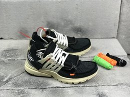 Wholesale Outdoor Rubber Floor - Hottest The Ten OFF x Air Presto Virgil Abloh Men And Women Running White Sneakers Top Outdoor Sport Shoes