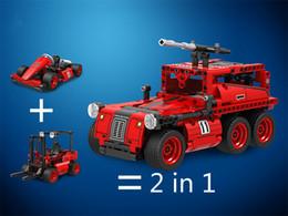 Canada Assemblé des blocs de construction pour les jouets éducatifs pour enfants de garçon 2-in - 1 kart 7087 chariot élévateur 7088 Offre