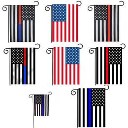 2020 bandiera americana blu 30 * 45cm USA Bandiere decorazione del partito Blue Line USA Flag nero, bianco e blu e American Flag Garden Vivaio bandiera patio Decor C4380 bandiera americana blu economici
