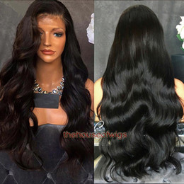 Wholesale body wave human hair wigs - Body Wave 360 lace wigs Peruvian human hair wigs With Pre Plucked Natural Hairline 130% Density Peruvian virgin hair