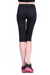 7e913445243360 2018 new Calf-length Pants Capri Pant Sport leggings Women Fitness Yoga Gym  High Waist Legging Girl Black Mesh 3 4 Yoga Pants women