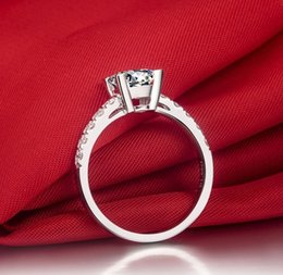 Wholesale Moissanite Diamond Rings - 1Carat Solid 750 Gold Princess Prominent CHARLES&COLVARD Moissanite Wedding Ring For Women Full Diamond Gold Jewelry