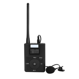 Wholesale radio broadcasting - Portable 3.5MM AUX Low-power Wireless FM Transmitter Stereo Radio Broadcast Adapter Support TF card For Xiaomi MP3 PC CD