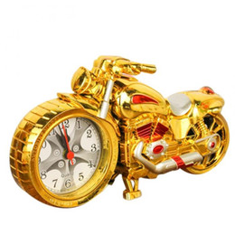 Wholesale Table Clocks Timer - wholesale Cool Motorcycle Motorbike Design Alarm Clock Desk Clock Table Decoration Drop Shipping Creative Home Birthday Gift Free DHL