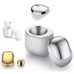 Super Mini Portable Luxury Golden IP8 Auricolari Bluetooth senza fili Auricolari invisibili Strong Compatibility Smartphone With Mic per iPhone X. da