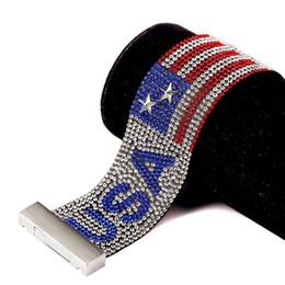 2019 набивка ткани Мода мужчины полный Кристалл дизайн США Клуб панк-рок хип-хоп ювелирные изделия заполнение штук мужчины Шарм ткань манжеты браслет обруча браслет скидка набивка ткани