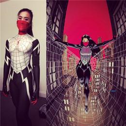 Donne di ragno cosplay online-Abito di seta Spider morph Silk Cindy Moon Spider Costume Donna / Donna / Ragazza Spiderman Cosplay Costume di Halloween