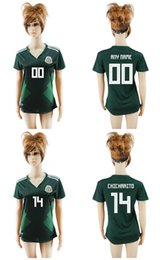 b0b0da8f5c2 2018 world cup women Mexico National Team Jersey Mexico Home Green girl  Soccer Jerseys 2018 world cup  14 CHICHARITO female Football Shirt