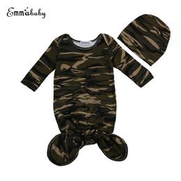 Wholesale Camouflage Blanket - Wholesale- 2Pcs Set Newborn Fashion Baby Swaddle Blanket Baby Sleeping Swaddle Hat Camouflage baby sleeping bag 0-18M elodie details
