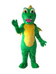 Wholesale Fancy Dress Dragon - 2018 High quality Dinosaur Fire Breathing Dragon Mascot Costume Fancy Party Dress Halloween Carnival Costumes Adult Size