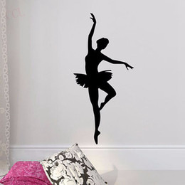 Wholesale wall stickers dance - Ballerina Wall Sticker - Ballet Dancer Wall Decal - Ballerina Decor - Ballet Silhouette Girls Dance Decal