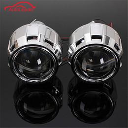 Canada 2.5 pouces RHD voiture moteur mini bi-xénon / HID projecteur lentille angle angle halo lentille kit phare ampoule loupe lampe adaptateur h1 / h7 / h4 ampoule cheap projector lenses for headlight Offre