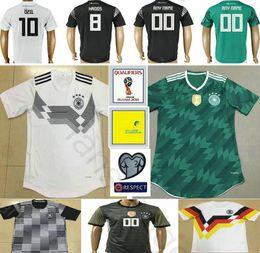 Wholesale National Jerseys - 2018 World Cup National Germany Football Jersey Muller Gotze Reus Kroos Draxler Neuer Ozil Boateng Custom Black White Green Soccer Shirt