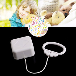 Wholesale Baby Toy Mobile - Wholesale- High Quality White Baby Bed Bell Pull String Cord Music Box Kids Toy Random Songs Baby Rattles & Mobiles