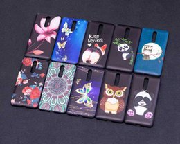 Wholesale Red Panda Iphone Case - Relief Flower Butterfly Soft TPU Silicone Case For Sony L1 Nokia 8 6 5 3 Galaxy A8 2018 A530 Owl Panda Cover Cute Lovely Rose Cartoon Gel