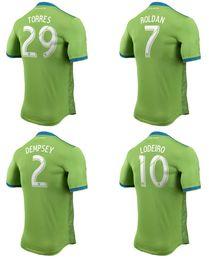 7b48aff42 18 19 Seattle Sounders Soccer Jerseys DEMPSEY MORRIS LODEIRO Football Shirts  2018 TORRES ROLDAN Football Jersey Top Quality Sports Uniform