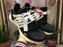 Wholesale Half Hard - 2018 The ten Virgil Abloh X Air Presto off Women&Men Running Shoes black Sport shoes Casual Designer Sneakers Size 36-45 with half size