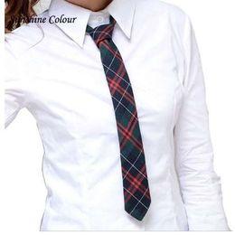 Moda cravatta ragazze online-Uniforme scolastica cravatta scolastica cravatta scozzese plaid colorato a righe per ragazzo / ragazza camicia cravatta cravatta cravatta moda cravatta