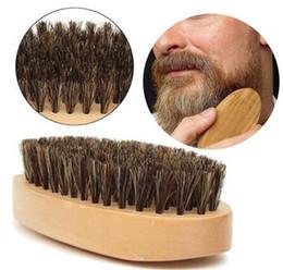 bigode do cabelo da cara Desconto Bigode Escova De Barba Naturais Javali Rodada Pega Lidar Com Pente Dos Homens Mensagem Facial Cabelo Pente de Barba Barbear Texugo Escovas