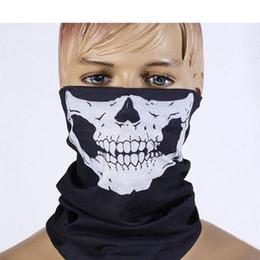 Многофункциональный лицо прохладный череп дизайн партии маски шарф взрослых многоцветный Спорт мотоцикл байкер шарф половина Маска Спорт оголовье маски от Поставщики маска для лица проектирует байкер