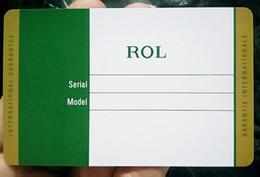 Assistir qualidade de design on-line-10 pçs / lote Alta Qualidade Melhor Design de luxo Verde rx, hblot, mb cartão para caneta / carteira / relógio / pulseira