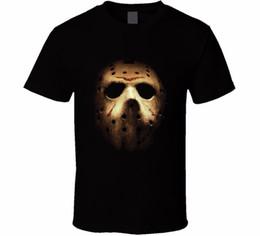 Masque de corbeau en Ligne-T-shirt boutique en ligne ras du cou Masque de Jason Voorhees Masque pour homme Halloween Film d'horreur Taille: S - T-shirt d'été pour homme 3xl