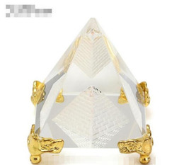 Commercio all'ingrosso - Fashion Energy Healing Piccolo Feng Shui Egitto Egitto Crystal Clear Pyramid Ornament Home Decor Living Room Decoration da