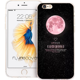 Iphone 5c cover pink en Ligne-Coque rose Space Moons Capa Clear Soft TPU Silicone Cover pour iPhone X 7 8 Plus 5S 5 SE 6 6S Plus 5C 4S 4 iPod Touch 6 5 cas