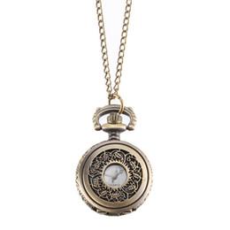 Canada Montre de poche vintage couleur bronze montre à quartz chaîne cool montres à fleurs creuses @ 88 supplier cool color watches Offre