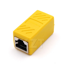 Wholesale lan extension - Colorful Female to Female Network LAN Connector Adapter Coupler Extender RJ45 Ethernet Cable Join Extension Converter Coupler
